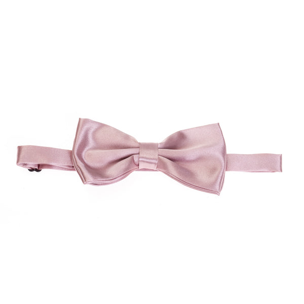 Pre-tied Plain Satin Bow Tie - Dusty Pink