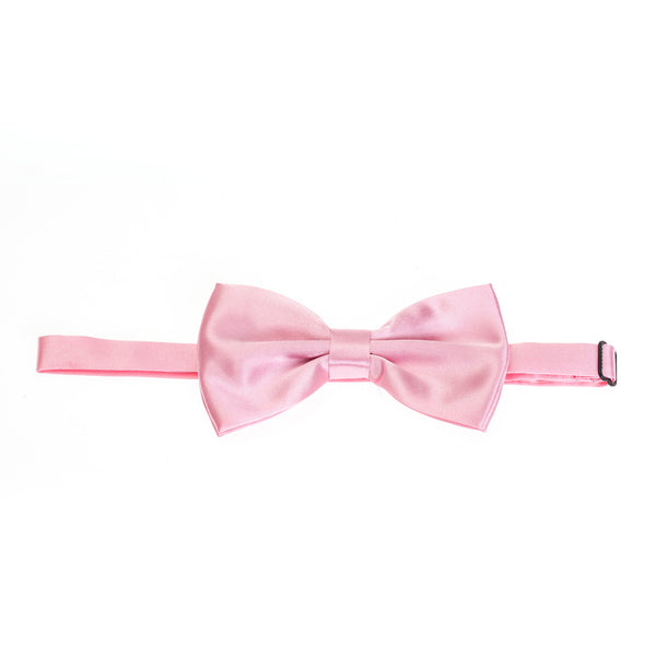 Pre-tied Plain Satin Bow Tie - Baby Pink