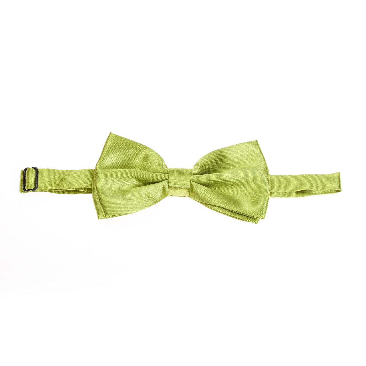 Pre-tied Plain Satin Bow Tie - Apple Green