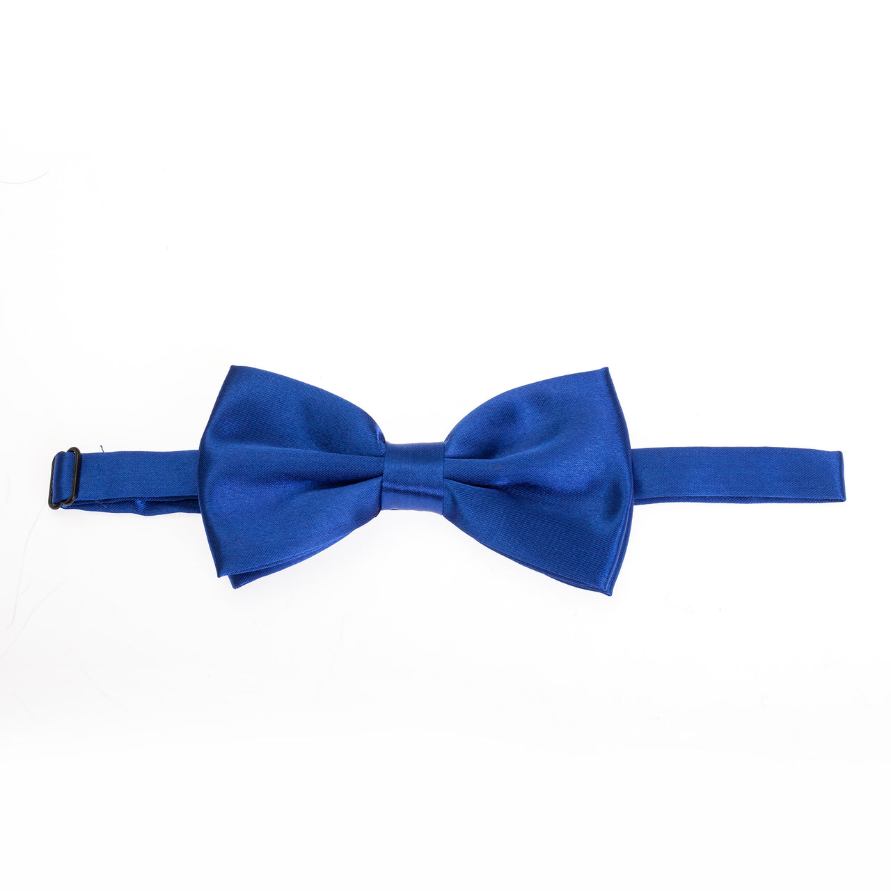 Pre-tied Plain Satin Bow Tie - Royal Blue