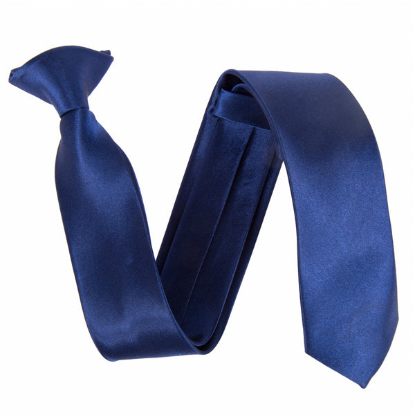"Slim / Skinny 2"" Clip On Safety Tie - Navy"