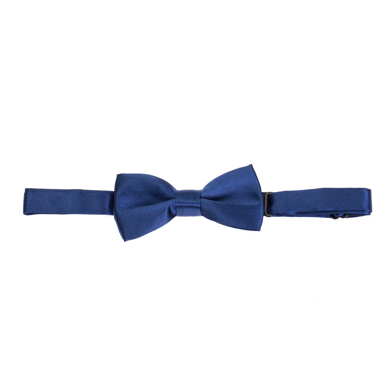 Kids Pre-tied Plain Satin Bow Tie - Navy Blue