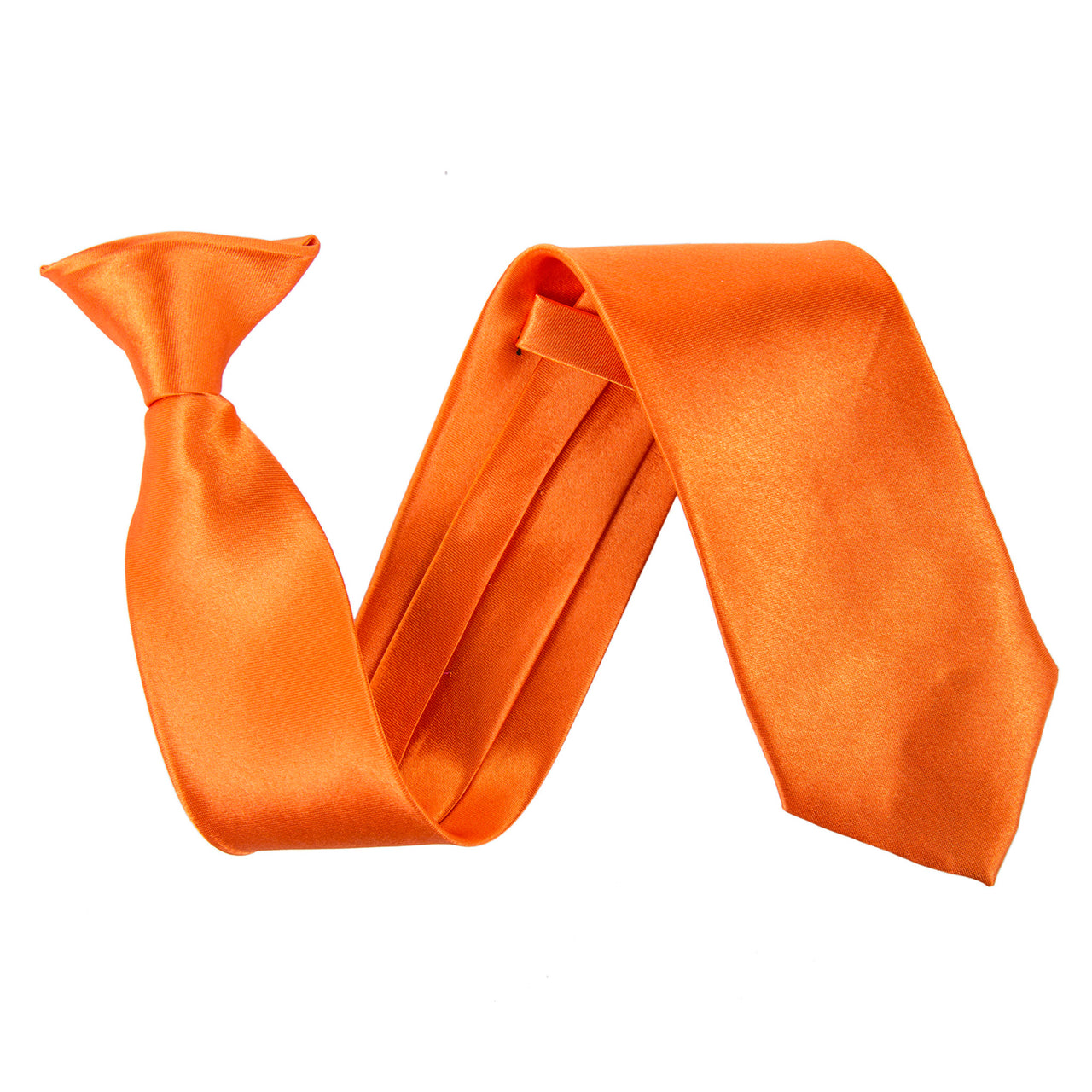 "Wide 3"" Clip On Safety Tie - Orange"