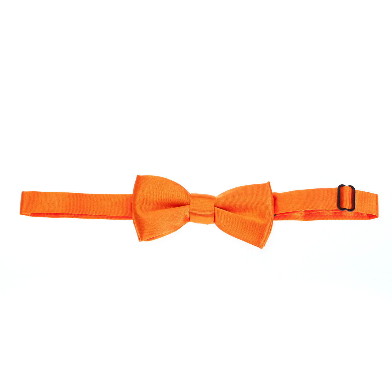 Kids Pre-tied Plain Satin Bow Tie - Orange
