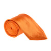 "Wide / Thick 3"" Plain Satin Tie - Orange"
