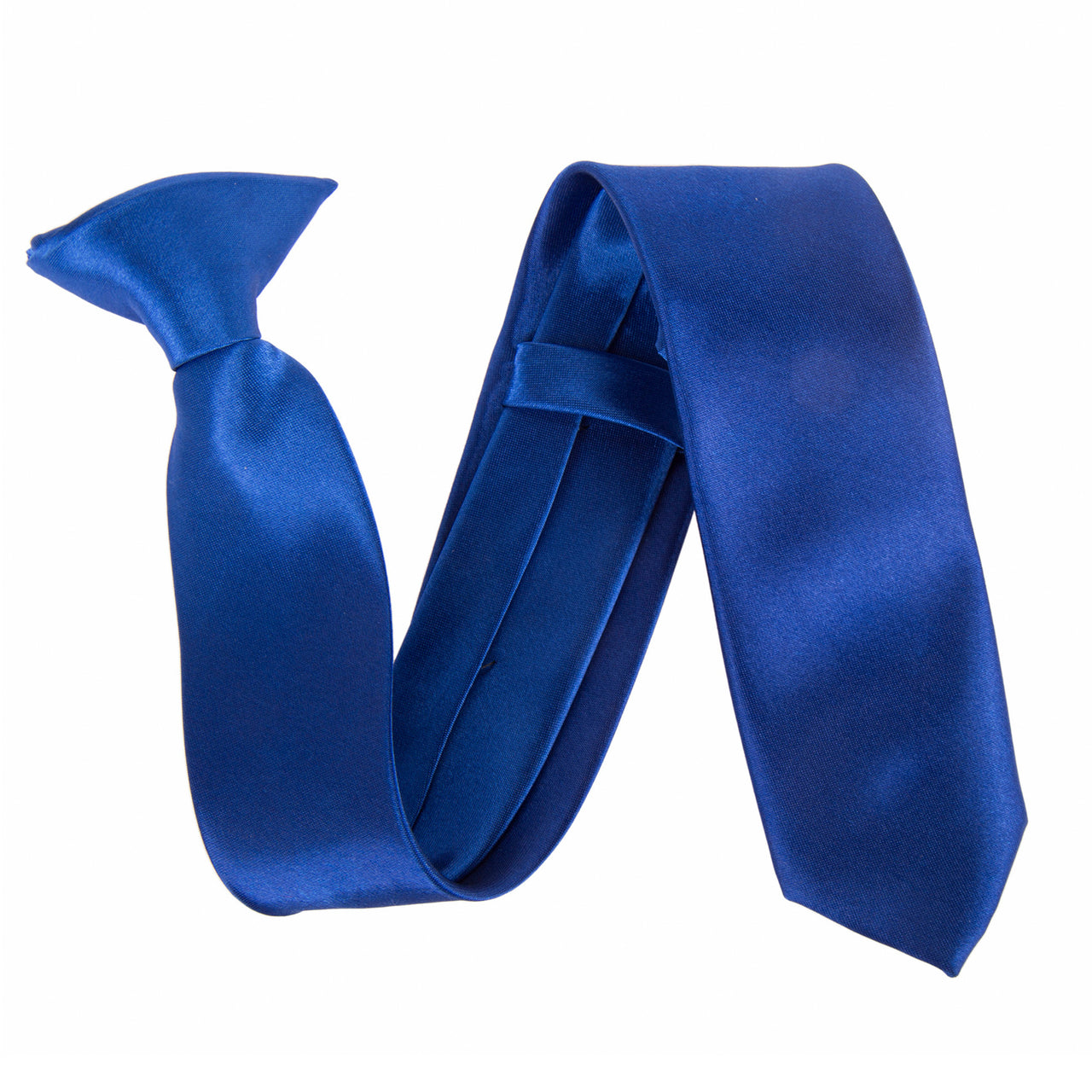 "Slim / Skinny 2"" Clip On Safety Tie - Royal Blue"