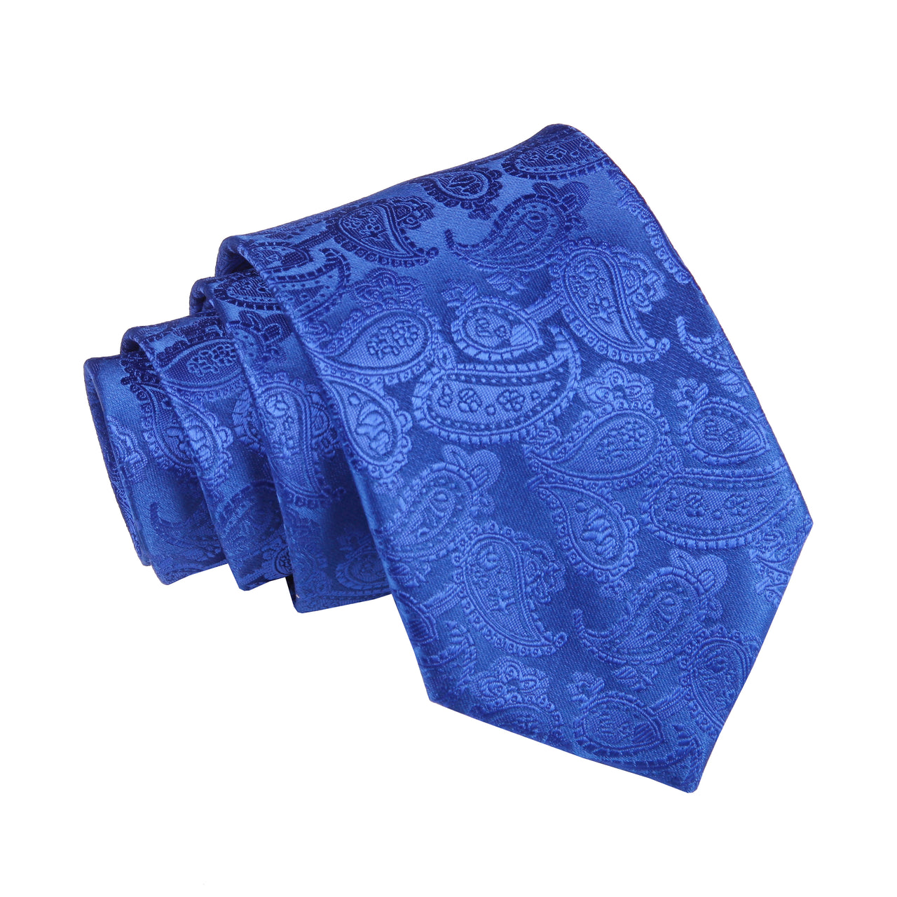 Premium Paisley Pattern Tie - Royal Blue