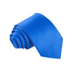 "Premium Wide / Thick 3"" Plain Satin Tie - Royal Blue"