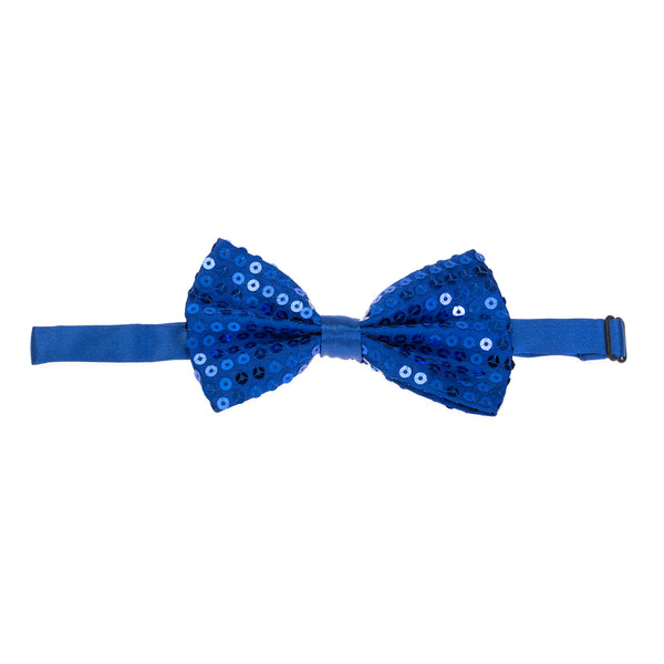 Pre-tied Sparkly Sequin Bow Tie - Royal Blue