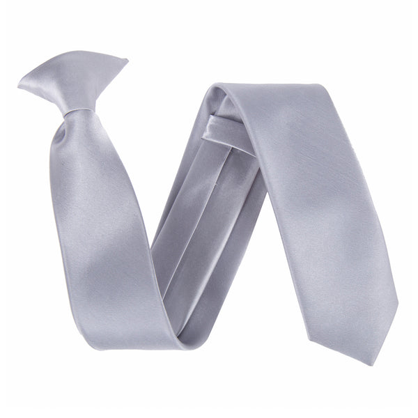 "Slim / Skinny 2"" Clip On Safety Tie - Light Grey"