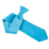 "Premium Wide / Thick 3"" Plain Satin Tie - Sky Blue"