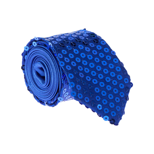 Sparkly Sequin Tie - Royal Blue