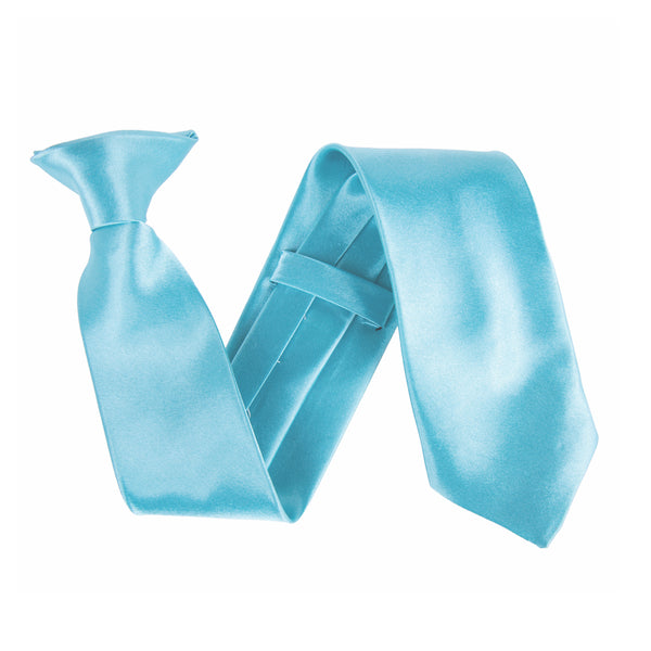 "Wide 3"" Clip On Safety Tie - Turquoise"