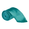"Wide / Thick 3"" Plain Satin Tie - Teal"
