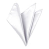 Plain Satin Pocket Square - White