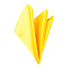 Plain Satin Pocket Square - Golden Yellow