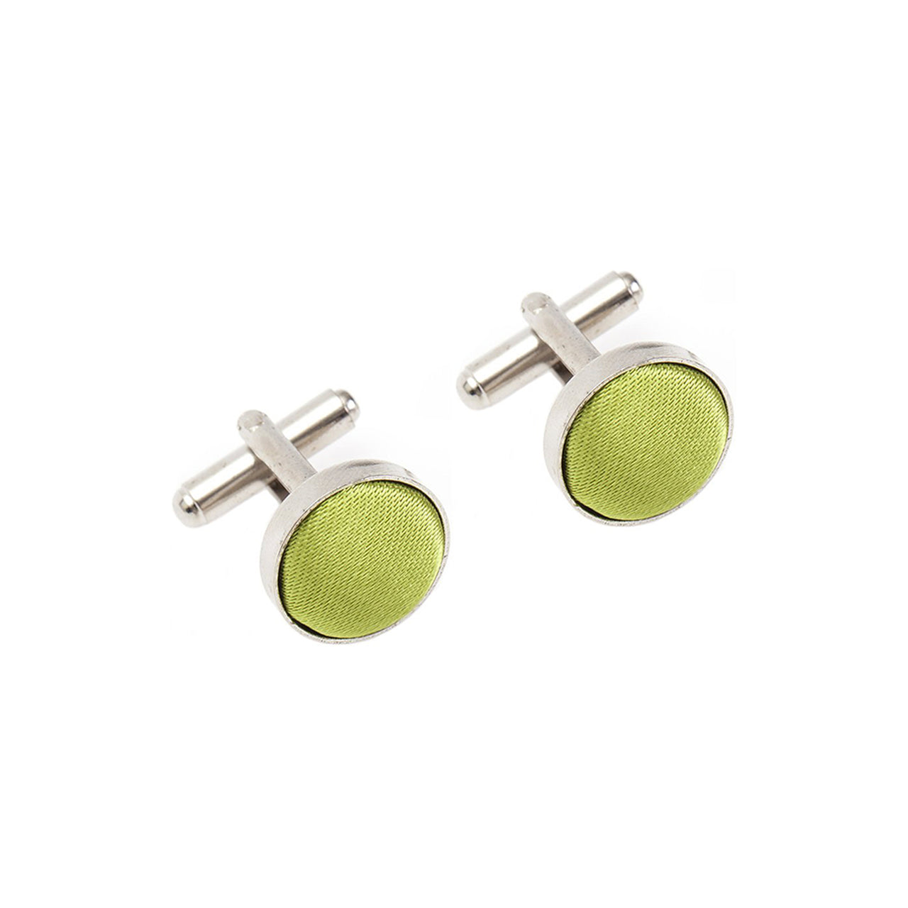 Fabric Cufflinks - Apple Green