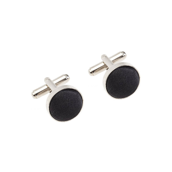 Fabric Cufflinks - Black