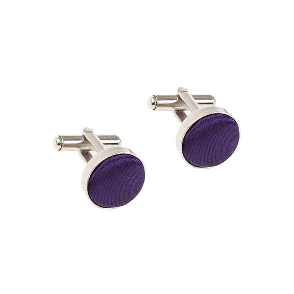Fabric Cufflinks - Cadbury's Purple