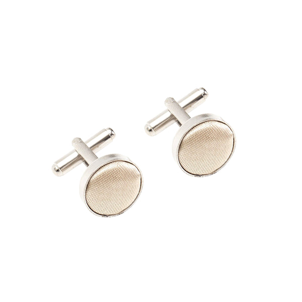 Fabric Cufflinks - Champagne
