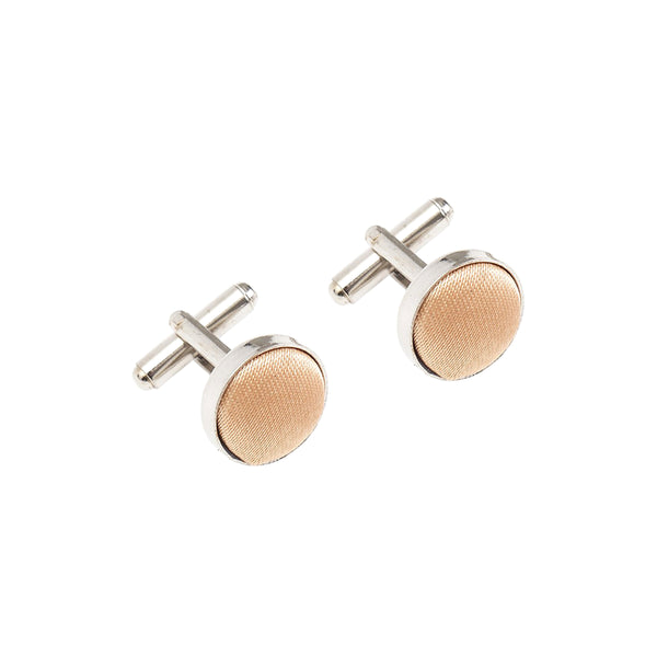 Fabric Cufflinks - Copper Gold