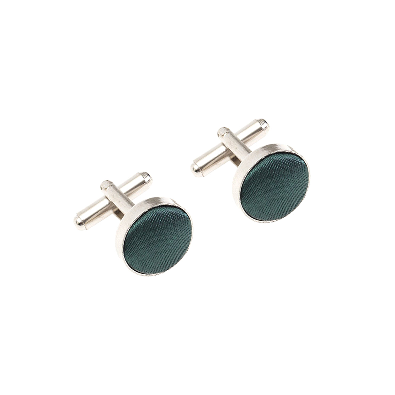 Fabric Cufflinks - Dark Green