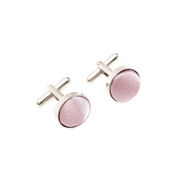 Fabric Cufflinks - Dusty Pink