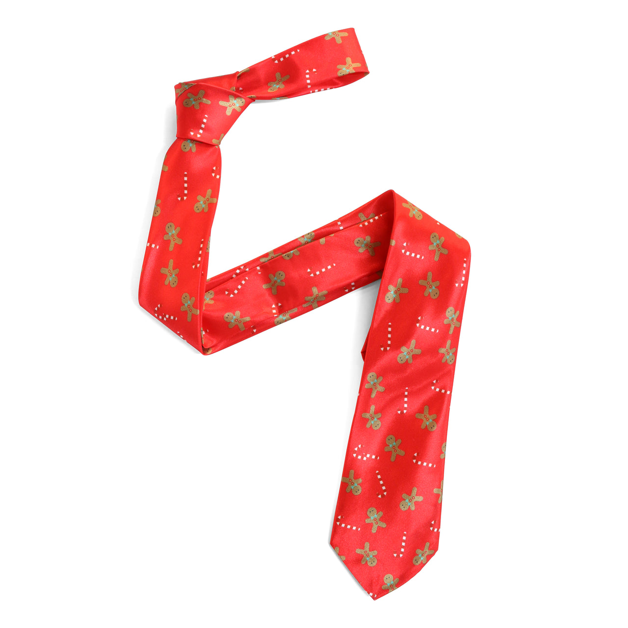 Copy of Christmas Tie - Gingerbread Candy Cane - Red