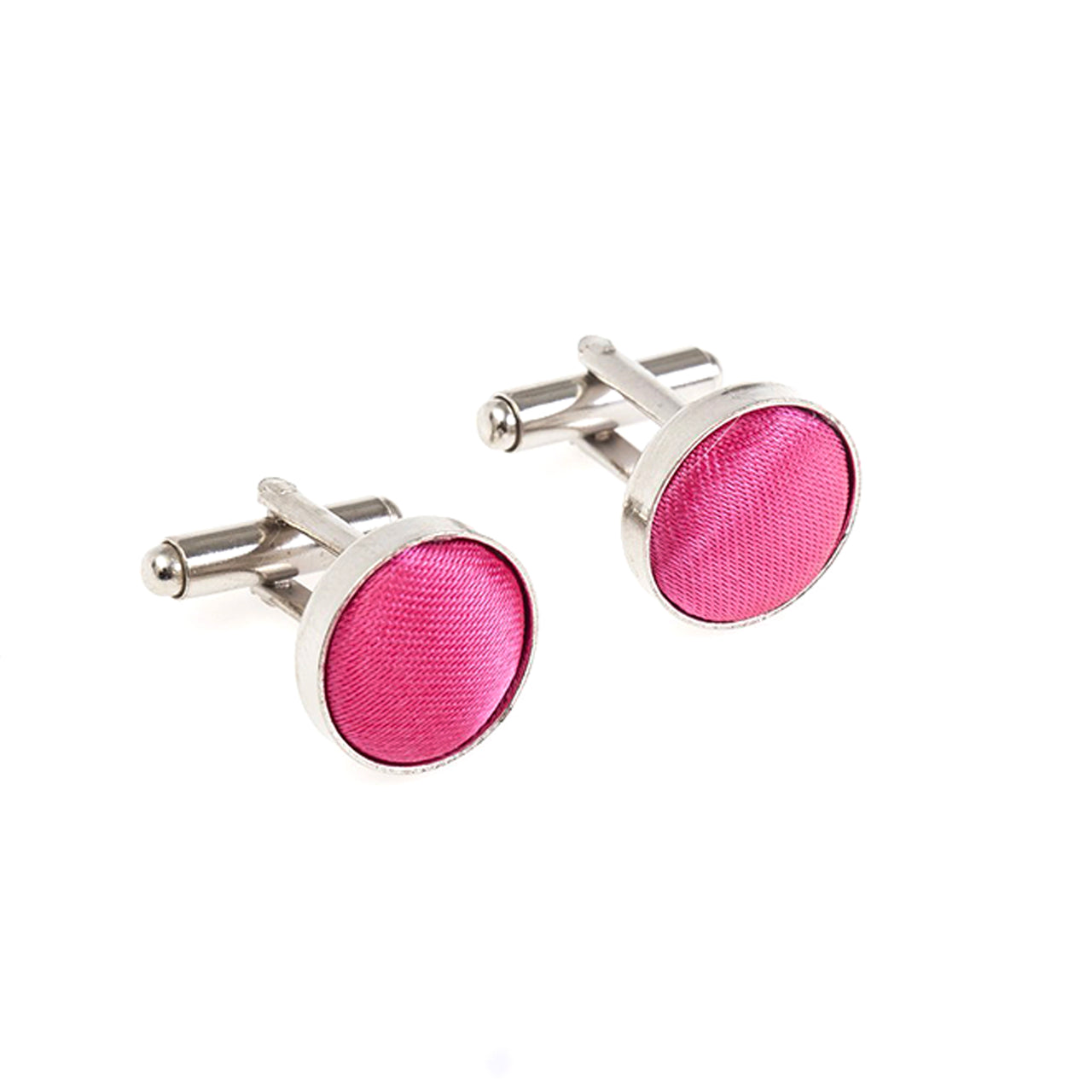 Fabric Cufflinks - Hot Pink