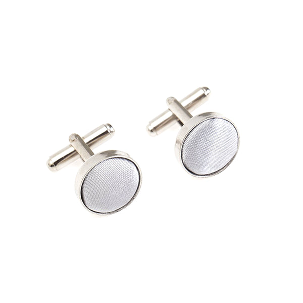 Fabric Cufflinks - Light Grey