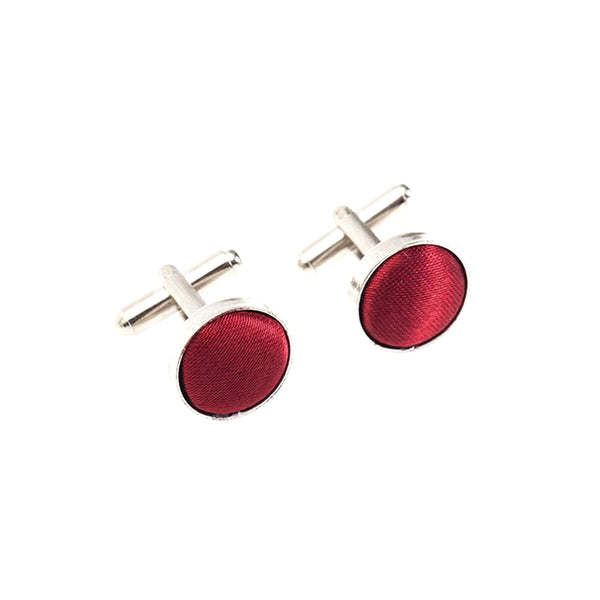 Fabric Cufflinks - Maroon