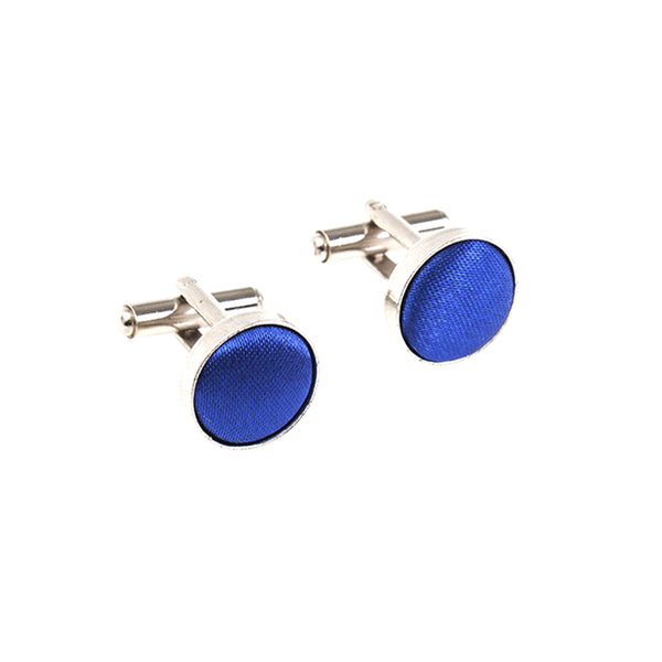 Fabric Cufflinks - Royal Blue