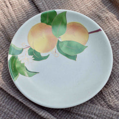 POSTCARDS FROM SIMLA - APRICOT APPETIZER PLATES - SET OF 6