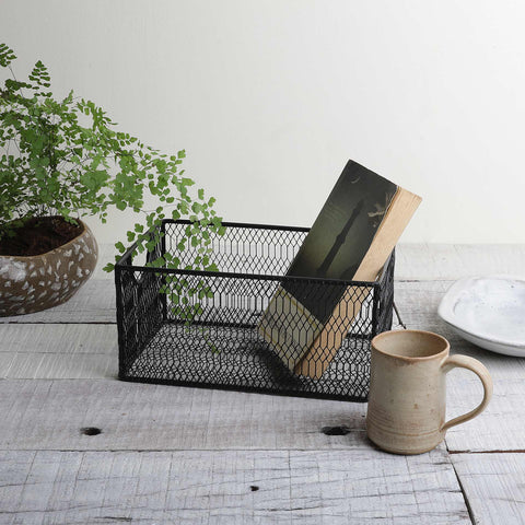 BLACK MESH BASKET