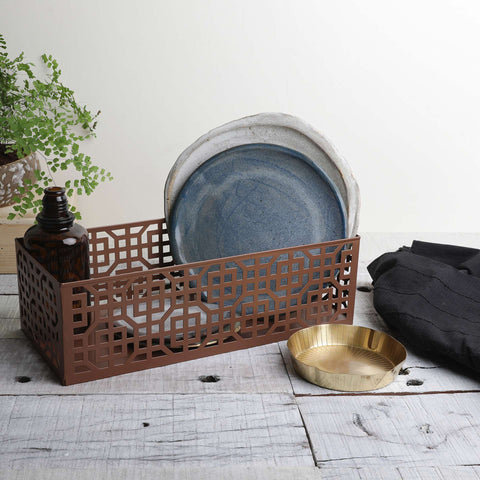 AZTEC DULL COPPER BASKET