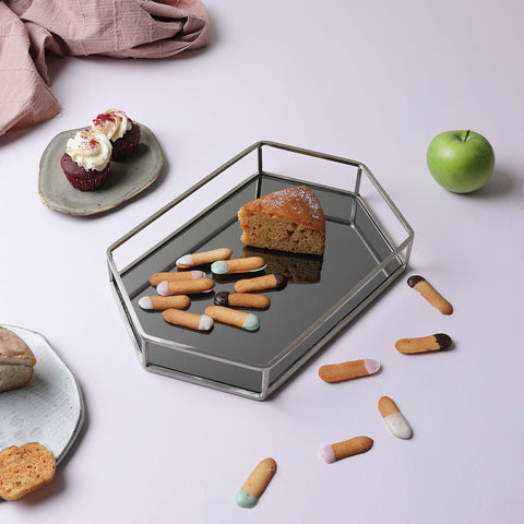 HEXA GLASS TRAY