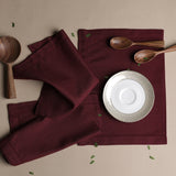 LINEN BASICS TABLE MAT DEEP MAROON - S/6