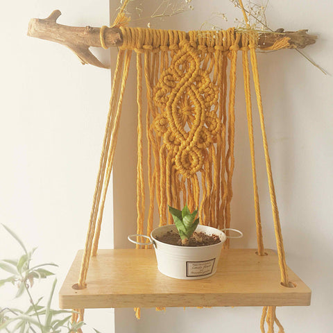 MACRAME MUSTARD SHELF