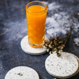 TERRAZZO NATURAL COASTERS - SET of 4