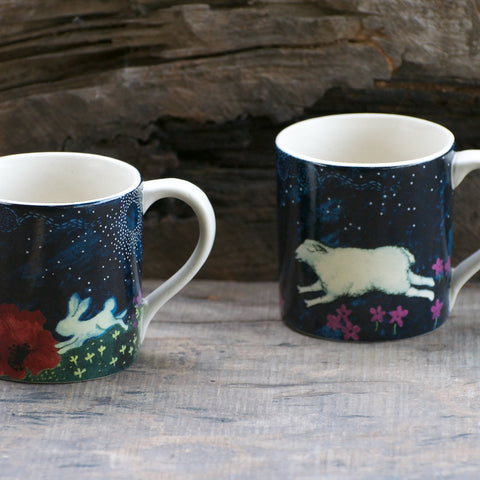 MIDNIGHT IN MASHOBRA TARA & FREDRICK MUGS - S/6 - 3 EACH