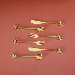 MONKEY CUTLERY SET (12 Pc) - 4 SPOONS, 4 KNIVES, 4 FORKS