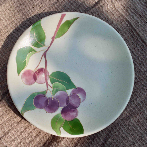 POSTCARDS FROM SIMLA - PLUM APPETIZER PLATES - SET OF 4
