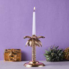 TROPICAL PALM CANDLESTAND