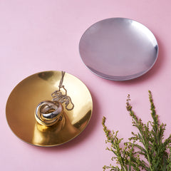 MIA TRINKET DISHES - S/4 - 2 GOLD + 2 SILVER