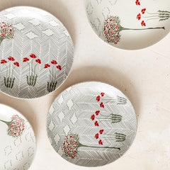 OLD ENGLISH GARDEN MIXED QUARTER PLATES - S/4