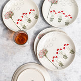 OLD ENGLISH GARDEN NON STRIPED QUARTER PLATES - S/6