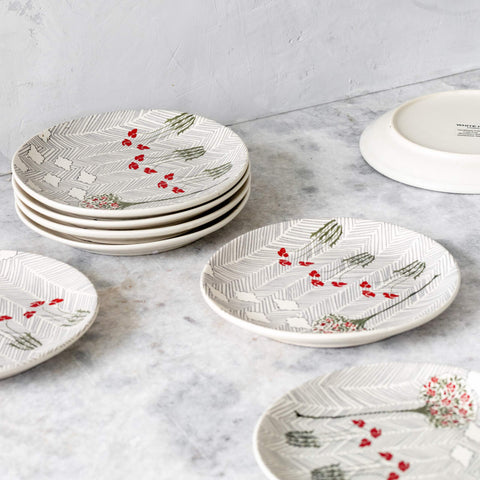 OLD ENGLISH GARDEN STRIPED QUARTER PLATES - S/6