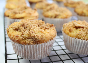 Gluten Free Super Moist Coffee Cake Muffins