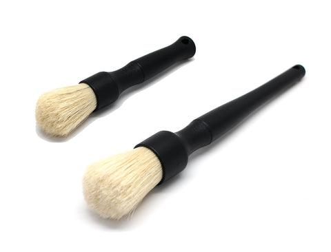 Detail Factory Premium Boar's Hair SHORT & LONG HANDLE BRUSH COMBO