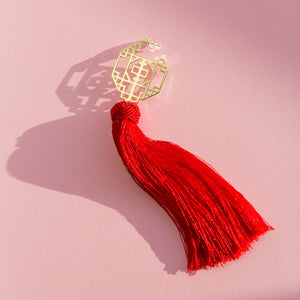FORBIDDEN TASSEL EARRING - SWEET CHILI RED